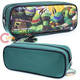 TMNT Teenage Mutant Ninja Turtles Zippered  Pencil Case Pouch Bag - Green