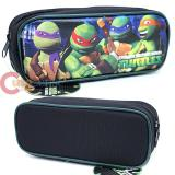 TMNT Teenage Mutant Ninja Turtles Zippered  Pencil Case Pouch Bag - Black