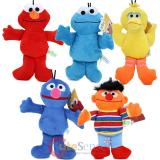 Sesame Street Bedtime Plush Doll Set -5pc Elmo Cookie Monster Big Bird Grover Ernie