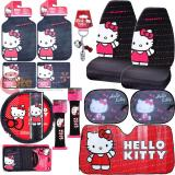 Hello kitty Core Car Seat Covers Accessories 14pc Set- Full Sunshade Shoulder Pad