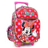 "Disney Minnie Mouse School Roller Backpack 16"" Large Rolling Bag-Comic Book All Over"