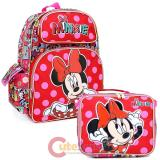 "Disney Minnie Mouse 16""  Large School Backpack with  Lunch Bag Set -Comic Book"