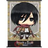Attack on Titan SD Mikasa Wall Scroll GE60568