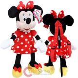 Disney Minnie Mouse Red Plush Doll Backpack Costume Bag -22in Red Bow