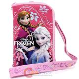 Disney Frozen Elsa and Anna Phone Case Coin Bag wallet with Lanyard - Pink