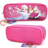 Disney Frozen Elsa and Anna  Zippered  Pencil Case Pouch Bag - Hot Pink