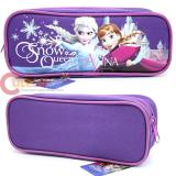 Disney Frozen Elsa and Anna  Zippered  Pencil Case Pouch Bag - Purple