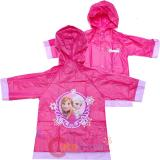 Disney Frozen Elsa and Anna Girls Rain Slicker Pink Rain Coat Jacket -Small