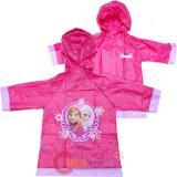 Disney Frozen Elsa and Anna Girls Rain Slicker Pink Rain Coat Jacket -Small