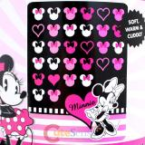 Disney Classic Minnie Mouse  Plush Microfiber Raschel  Throw Blanket : Love Minnie