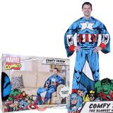 Marvel Avengers Captain America Cozy Fleece  Blanket with Sleeves : Adult Size