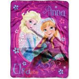 Disney Frozen Anna Elsa Plush Microfiber Throw Blanket : Loving Sisters
