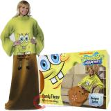 Nick Jr Spongebob Cozy Fleece  Blanket with Sleeves : Adult Size