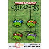 TMNT Teenage Mutant Ninja Turtles Stud Earring Pack Set -4 pc