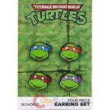TMNT Teenage Mutant Ninja Turtles Stud Earring Pack Set -4 pc