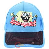 Nick Spongebob Kids Hat  Baseball Cap - Hands Up Blue