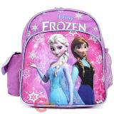 "Disney Frozen Elsa Anna 10"" School Backpack  Toddler Bag - Light Purple Snow"