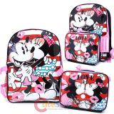 Disney Mickey Minnie Mouse Large Backpack with Detachable Insulated Lunch Bag Combo Set