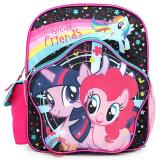 "My Little Pony 12"" School Backpack Grils Small Bag -Black Pink Magical Friends"