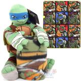 Teenage Mutant Ninja Turtles Fleece Throw Blanket with Leonardo Plush Doll Pillow Set