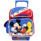 """Disney Mickey Mouse Roller Backpack 12"""" Toddler Small Bag -Mickey Stars"""