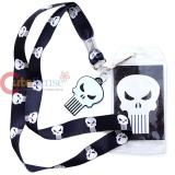 Marvel Punisher Lanyard ID Holder with Punisher  Charm