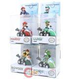 Nintendo Super MarioKart Pullback Micro Racers Set (Mario, Luigi , Yoshi, Bowser)