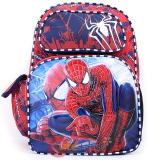 "Amazing Spiderman Large School Backpack 16"" Boys Book Bag -Double Face"