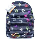 "Colorful Skulls All Over  Shcool Backpack School Bag 16"" Yakpak Large  Book Bag"