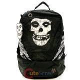 "Misfits Big Skull Logo Shcool Backpack School Bag 16""  Book Bag"