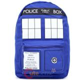 Dr Who Blue Tardis Large School Backpack Book Back