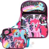 "My Little Pony  16""  Large  School  Backpack Lumch Bag set  Elsa Anna Gilrs Bag Set -Magical Friends"