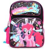 "My Little Pony 16""  School Backpack Large Book Bag -Rainbow Magical Friends"