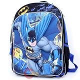 DC Comics Batman Large School Backpack 16in Book Bag -3D Emblem Figure