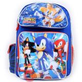 "Sega Sonic The Hedgehog School Backpack  16"" Large Book  Bag :Sonic Time"
