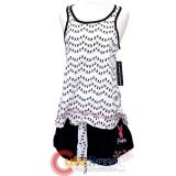 Playboy Women's 2pc Pajama Set Tank Top and Short Pants Sleepwear -L
