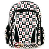 Red Skull Stars Checker Board  Large  School Backpack