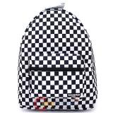 "Black and White Checkerboard Shcool Backpack 16"" Yakpak Large  Book Bag"