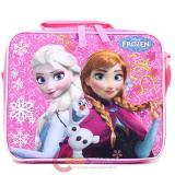 Disney Frozen School Lunch Bag Elsa Anna Olaf Insulated Snack Bag -Floral Snowflake