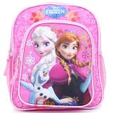 "Disney Frozen Elsa Anna 10"" School Backpack  Toddler Mini  Bag - Floral Snowflake"