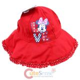 Disney Minnie Mouse  Infant Toddler Bucket Hat - Red Polka Dots Love