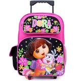 Dora The Explorer Dora with Boots Large Roller Backpack -Flower Garden