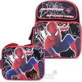 The Amazing Spider Man Medium School Backpack Lunch Bag Set :Web Shooter