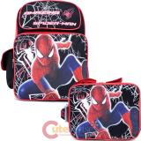 The Amazing Spider Man Large School Backpack Lunch Bag 2pc Set :Web Shooter