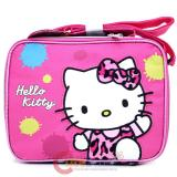 Sanrio Hello Kitty School  Lunch Bag , Snack Box : Leopard Pink Bow