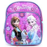 "Disney Frozen Elsa Anna 10"" School Backpack with Olaf Toddler Bag - Purple Floral Snowflake"