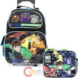 Ben 10 Alien Force  Large Roller Backpack with Lunch Bag Set