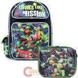 Teenage Mutant Ninja Turtles Large School Backpack Lunch Bag Set -TMNT Misson