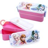 Disney Frozen Lunch Box  2-Tier Elsa Anna Food Container Bento with Chopstic
