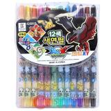 Nintendo  Pokemon XY 12pc Twist Up Coloring Pencil Set with Chespin Fennekin